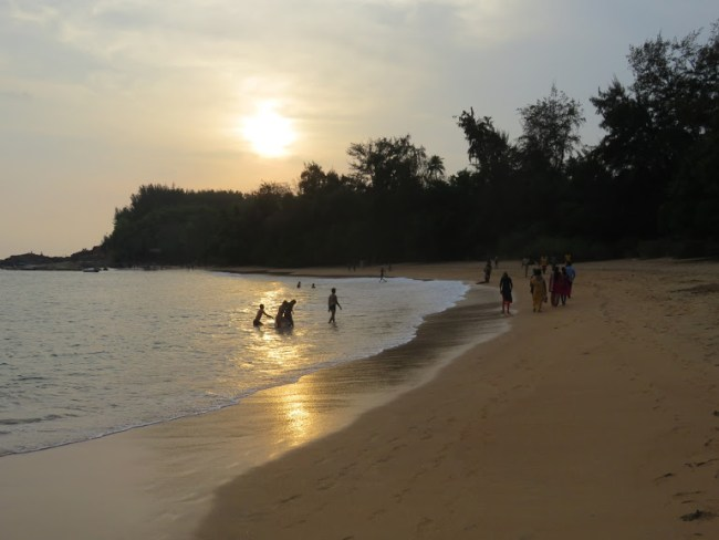 Om beach is one of the best places to visit in Gokarna