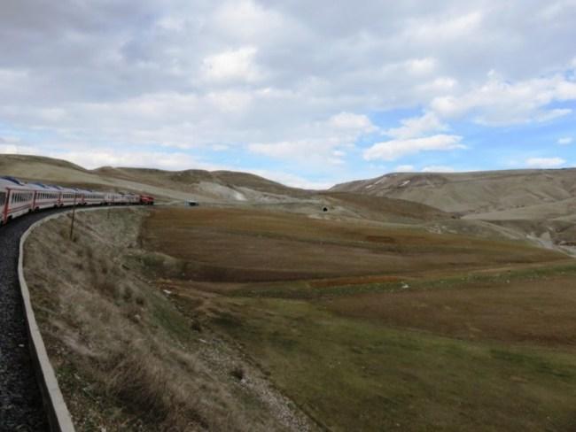 Dogu express scenery on the way to Kars in Anatolia