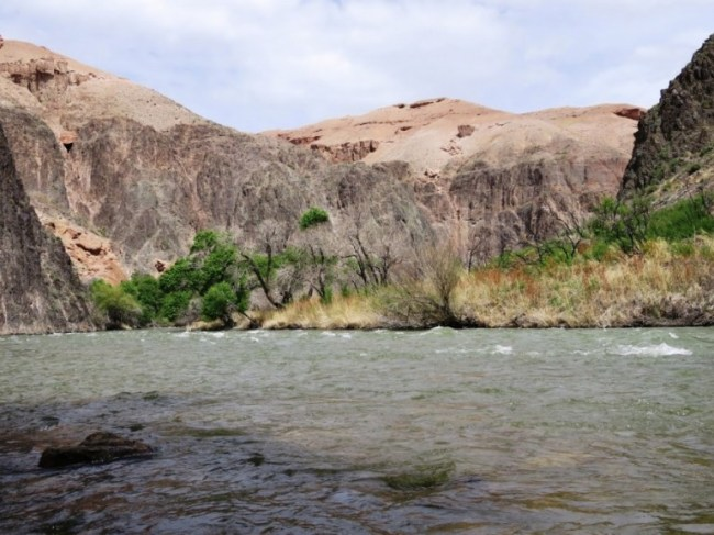 The Charyn river in the Charyn Canyon national park in Kazakhstan