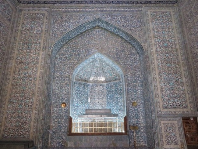 interior decorations of the Pahlavon Mahmud mausoleum in the old town of Khiva Uzbekistan