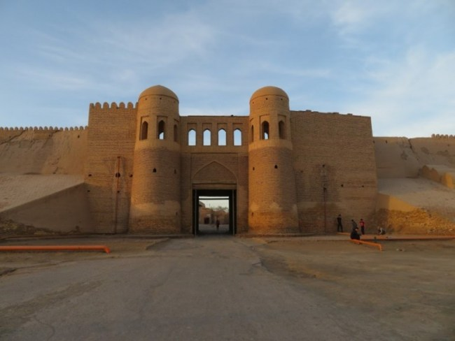 Entrance gates to the old town of Khiva Uzbekistan