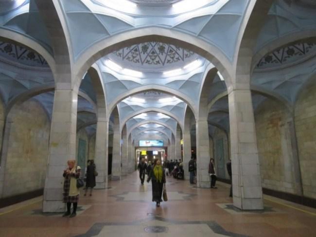 Alisher Navoi metro station in Tashkent Uzbekistan
