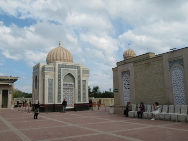 Mausoleum of the first president in Samarkand Uzbekistan