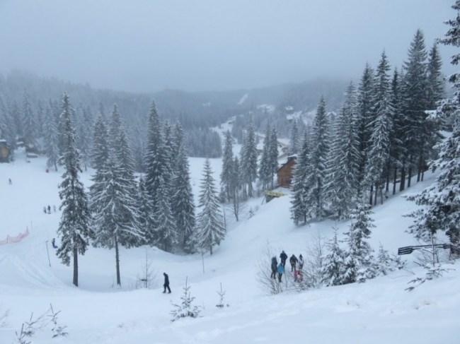 Jahorina in winter near Sarajevo Bosnia