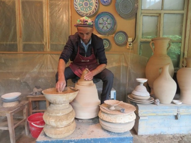 Rishton pottery in the Fergana Valley in Uzbekistan