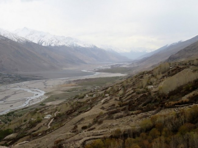 Wakhan valley on the Pamir highway Tajikistan