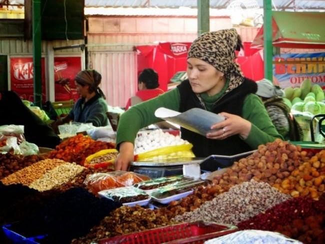 Dordoi bazaar in Bishkek Kyrgyzstan