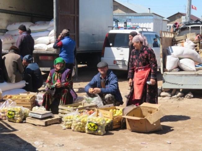 Sary Mogul bazaar in Kyrgyzstan