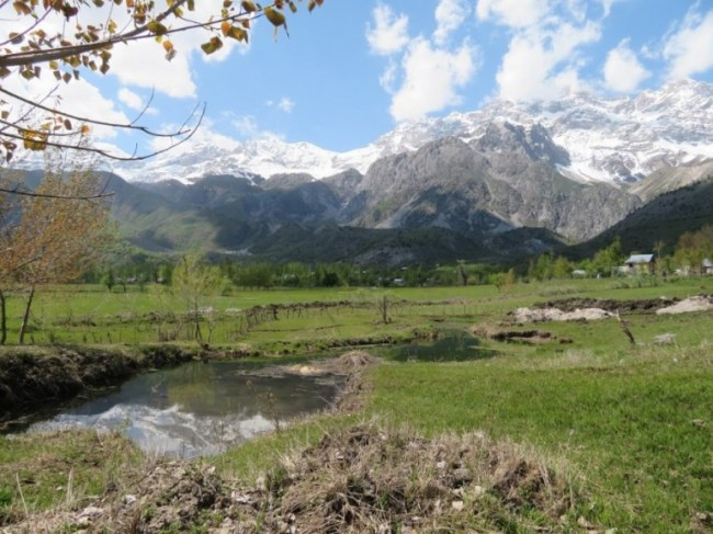 Views over Arslanbob Kyrgyzstan