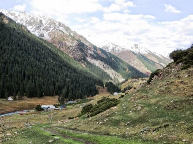 Altyn Arashan hot springs in Kyrgyzstan