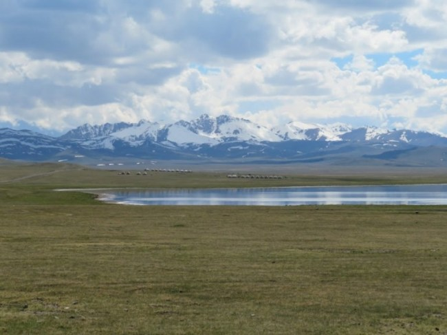 Song kul lake in Kyrgyzstan