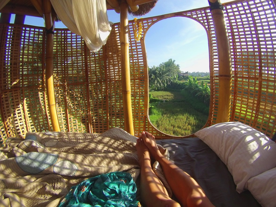Bamboo Nest in Ubud, Bali | The most amazing place we slept, 7 meters off the ground in the middle of beautiful rice fields.