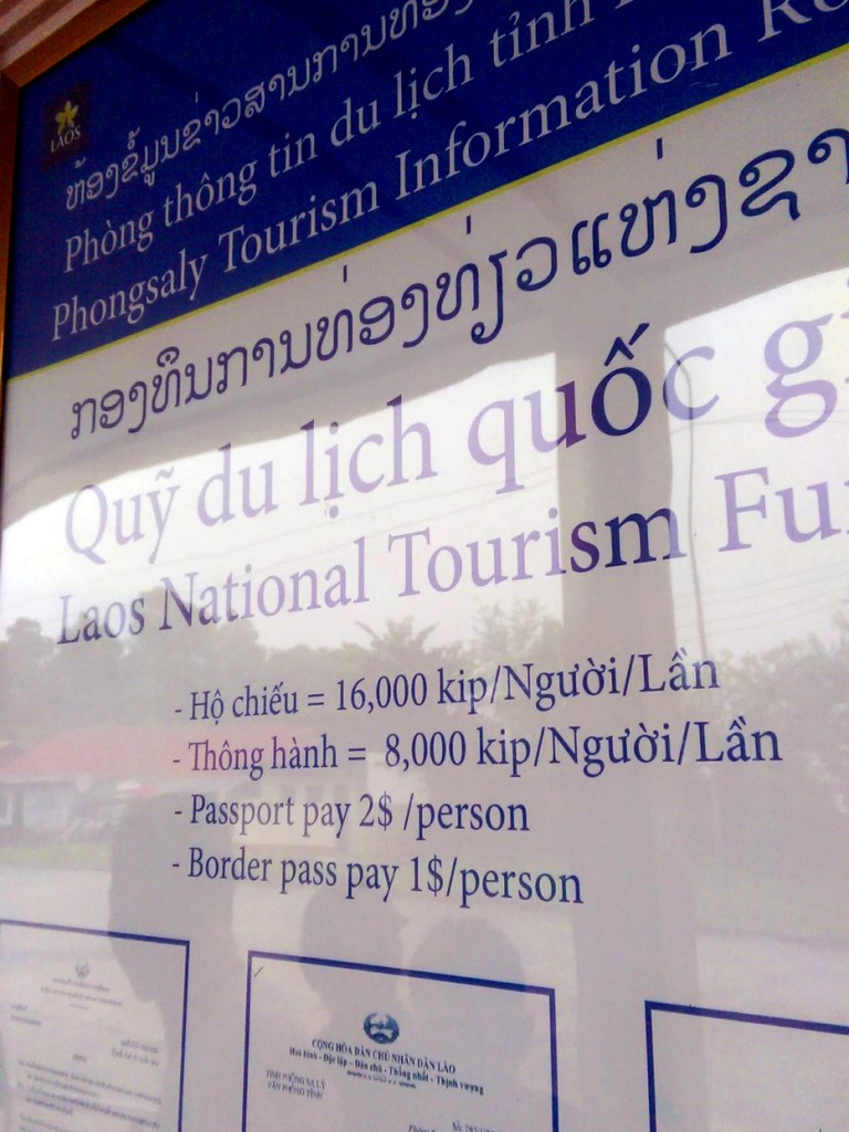 Laos border fees | Vietnam to Laos – How to Travel by Bus from Sapa to Muang Khua