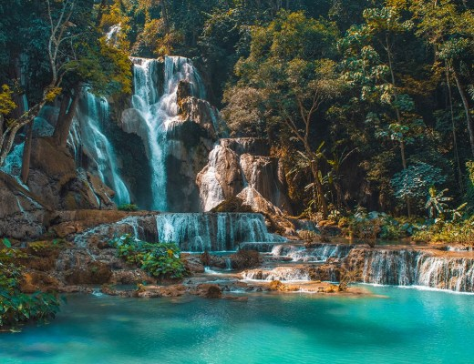 Visit Kuang Si Falls in Luang Prabang, Laos | Beautiful Waterfalls | Luang Prabang | Laos | Backpack South East Asia | Travel | Backpacking | Must Visit | Do Not Miss | Amazing landscapes | Photography | Backpackers Wanderlust |