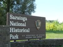 Saratoga National Historical Park entrance