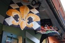 Fleur de lis flags in New Orleans