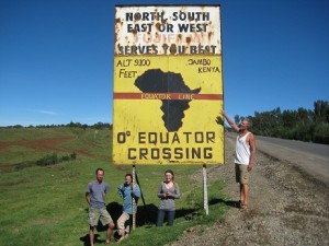 Equator in North Kenya