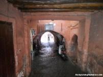 A Moroccan alleyway.