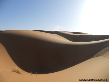The mystique of the Saharan dunes.