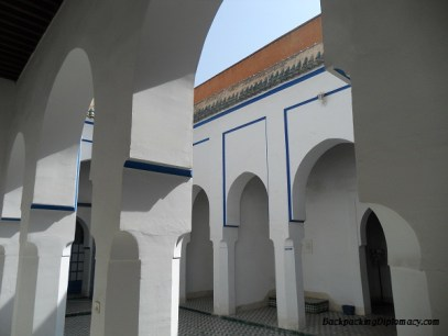 The palace in Marrakesh Morocco.