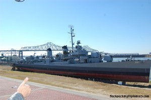 The USS Kidd in Baton Rouge.