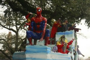 Spiderman float