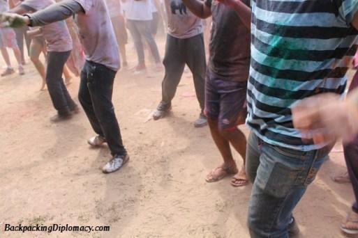 dancing at lafayette holi festival