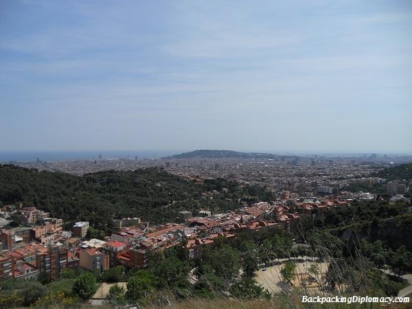 the skyline of barcelona
