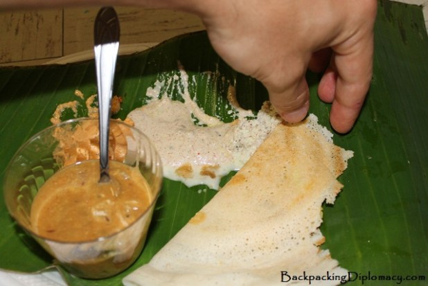 eating Indian food with your hands
