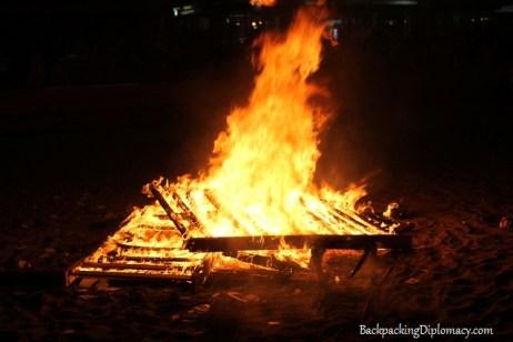 Barn fire in Spain