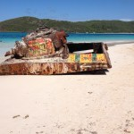 Tank on the beach of Culebra
