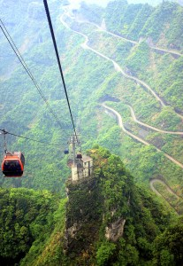 Backpacking in Zhangjiajie in the Hunan Province - the Cable Car