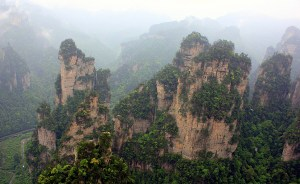 The Floating Hallelujah Mountains in Hunan