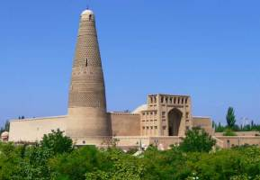 A view of Turpan's Emin Minaret in Xinjiang, China
