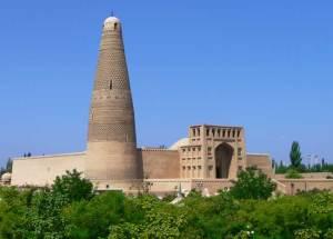 A view of Turpan's Emin Minaret in Xinjiang, China