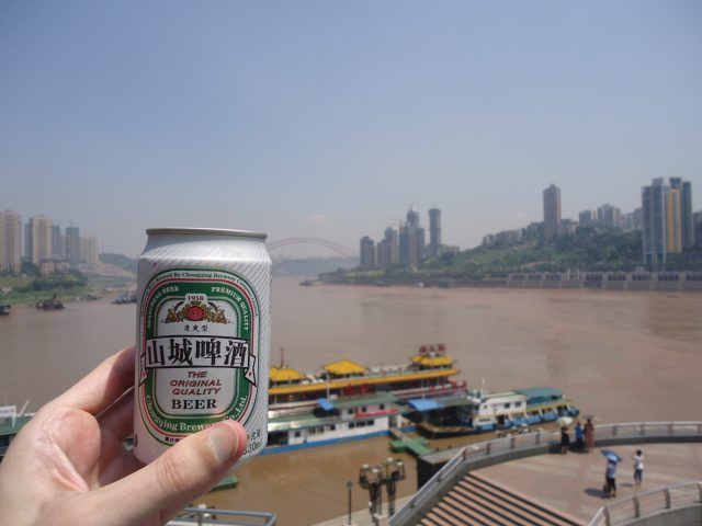 A beer by the Yangtze