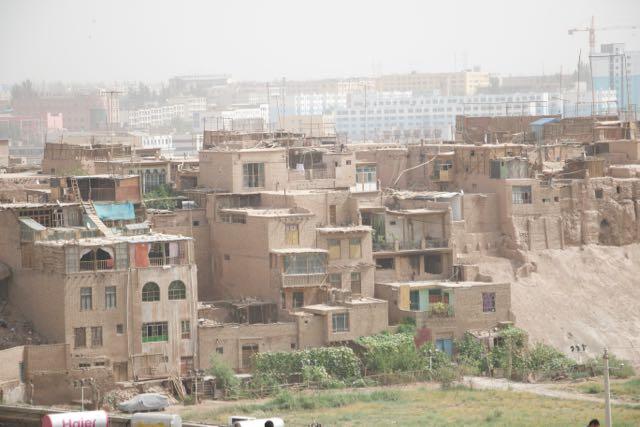 The old city of Kashgar in Xinjiang, China