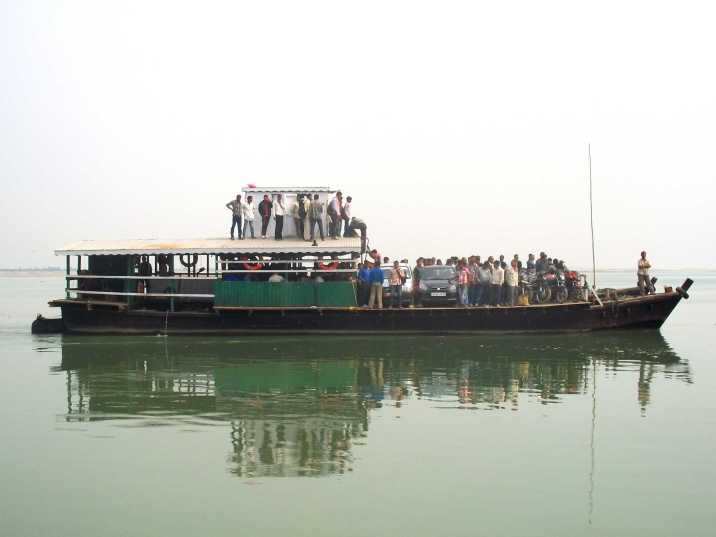 How to get to Majuli Island in Assam, northeast India and what is the boat ride on Brahmaputra river like?