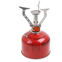 Signstek Ultralight Camping Backpacking Canister Rocket Stove for Butane and Propane Canisters.