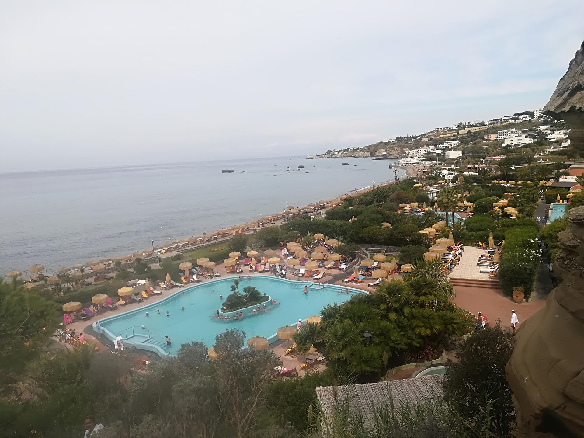A view from one of Poseidon's terraces
