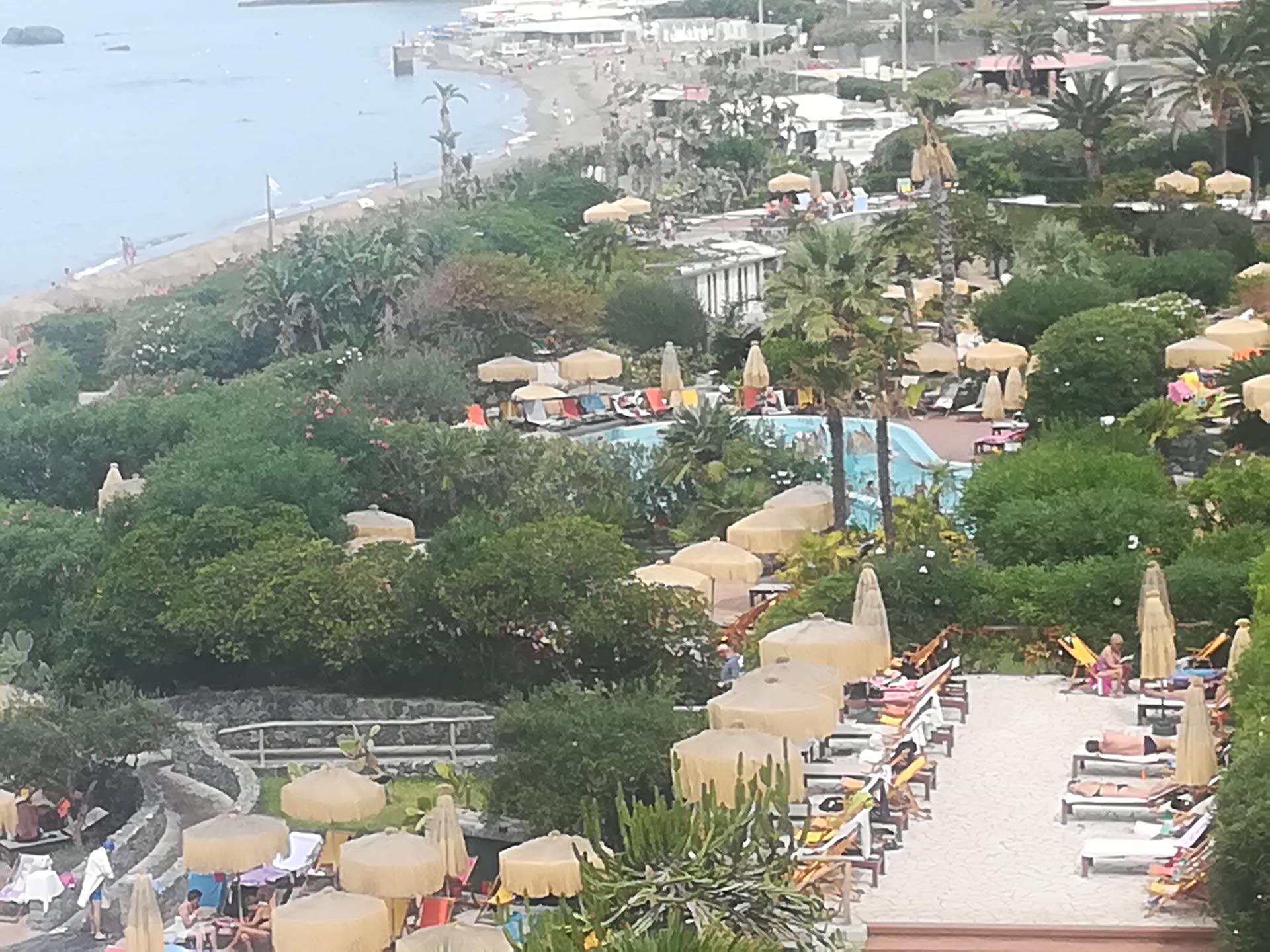 Some of the terraces and pools at Poseidon