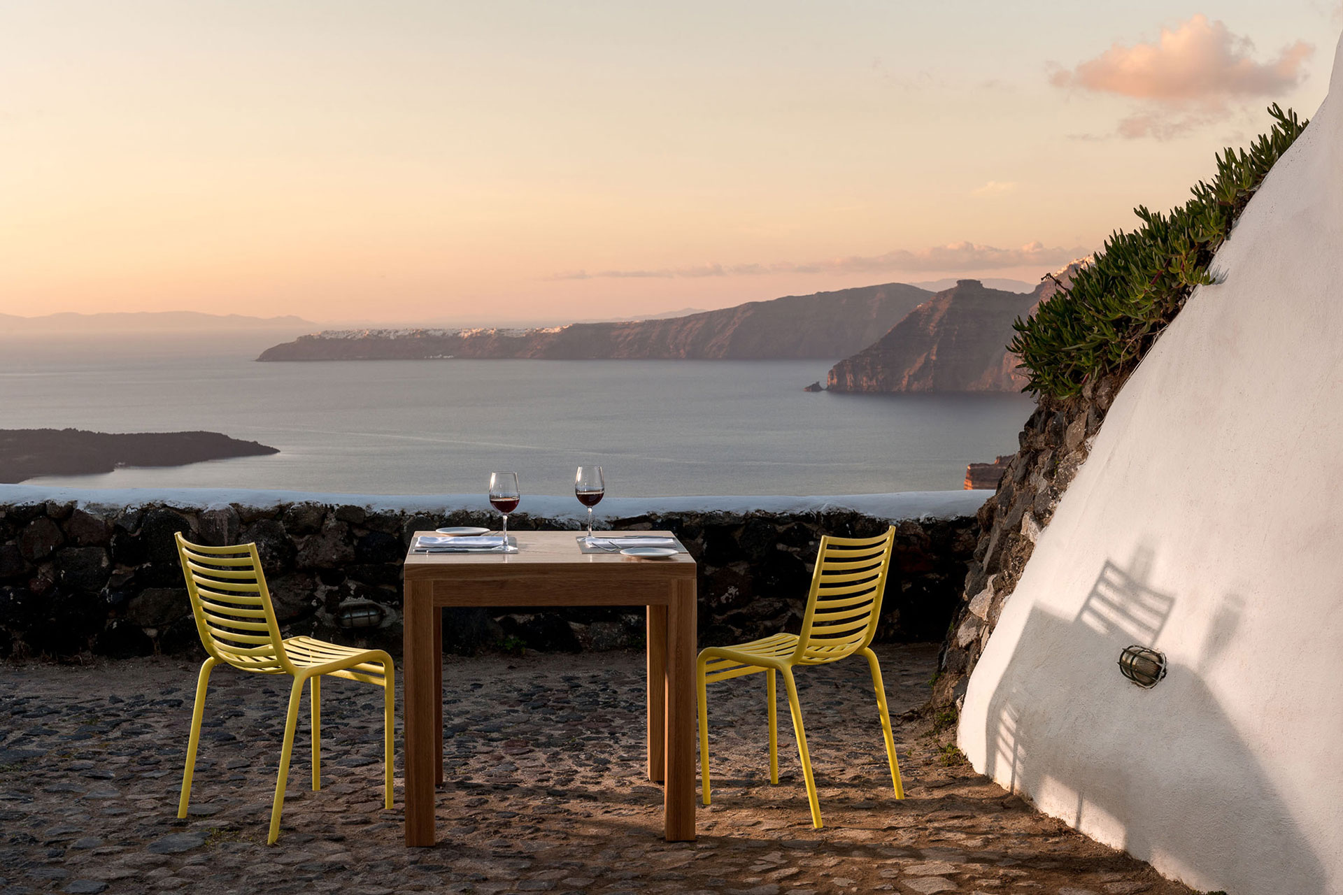 Venetsanos Winery Santorini Sunset Backpacks and Postcards Travel Blog