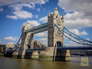 Avoid Vacation Trouble: Tower Bridge across the River Thames. London, England.