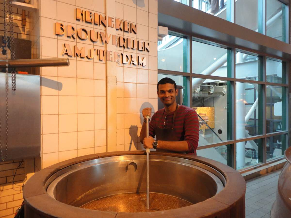 Brewing Beer In Heineken Brewery