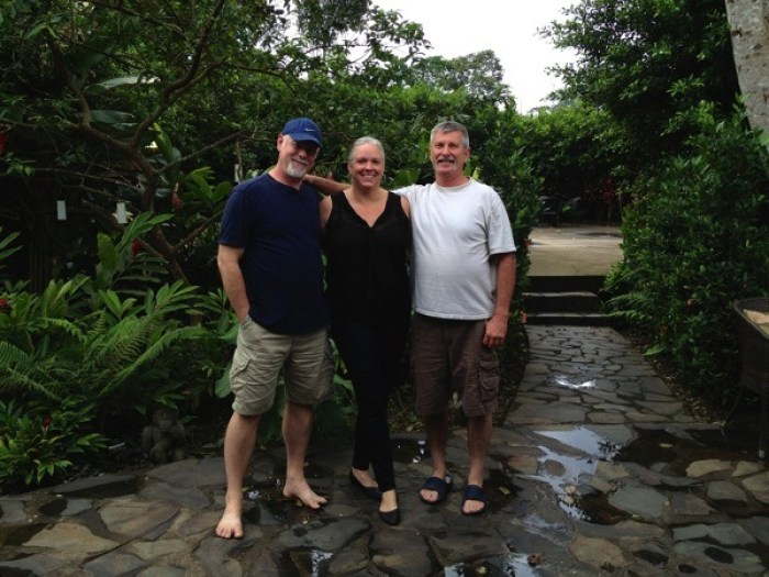 Howard Blount Wendy Holt Jerry Woods at Villa Hermosa La Fortuna Costa Rica - Villa Hermosa: Your Home Away from Home in Costa Rica