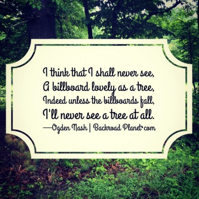Ogden Nash Billboard Tree Poem Meme