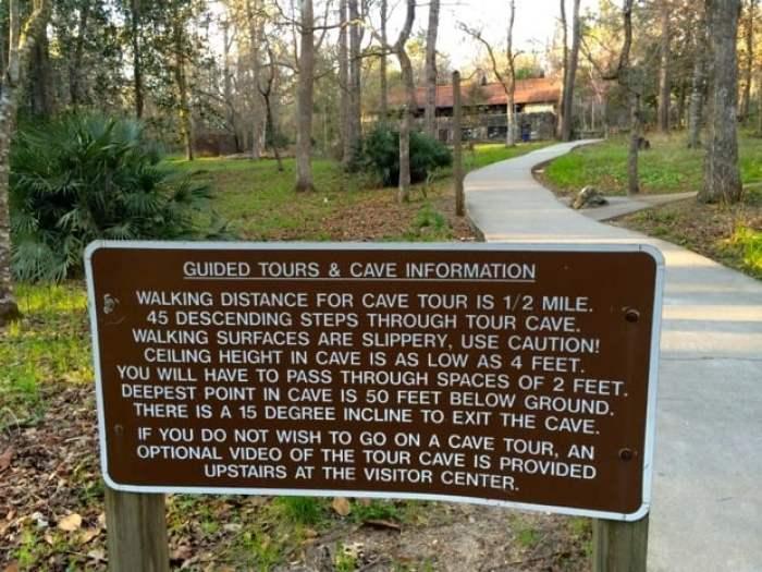 Florida Caverns Tour Info