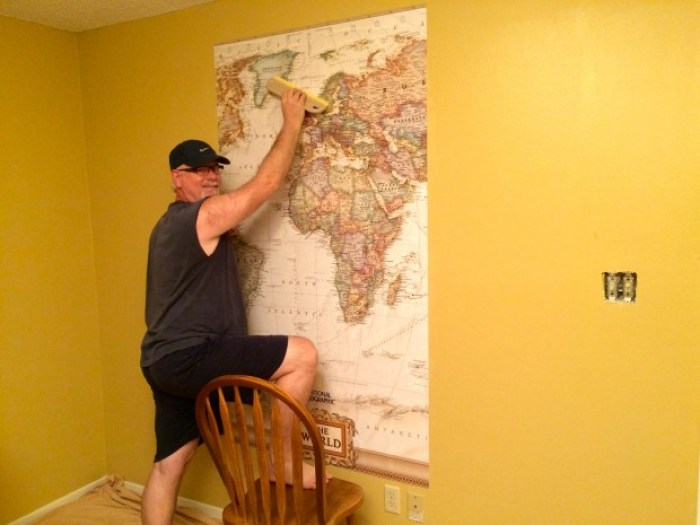 IMG 4657 - How to Hang a National Geographic World Map Mural