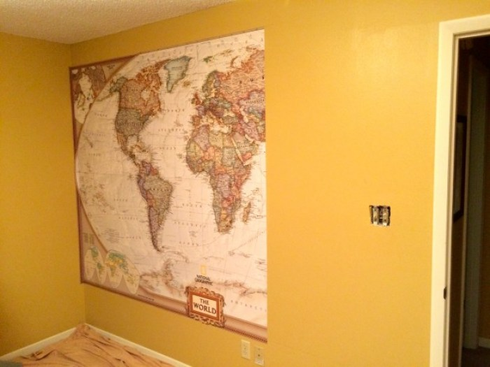 IMG 4660 - How to Hang a National Geographic World Map Mural
