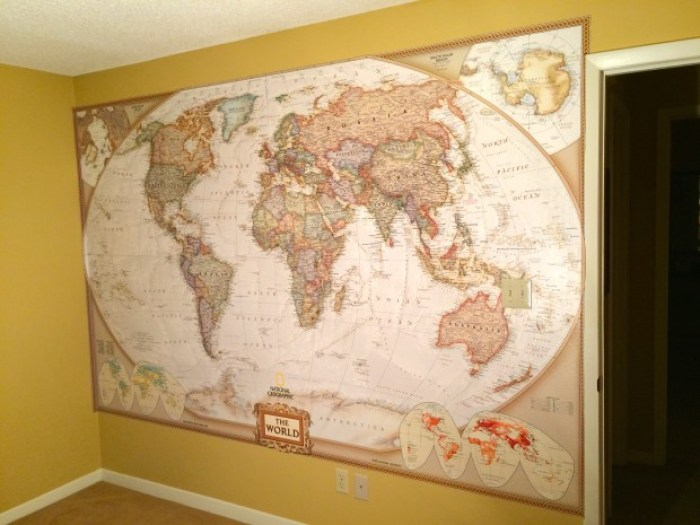 IMG 4667 - How to Hang a National Geographic World Map Mural